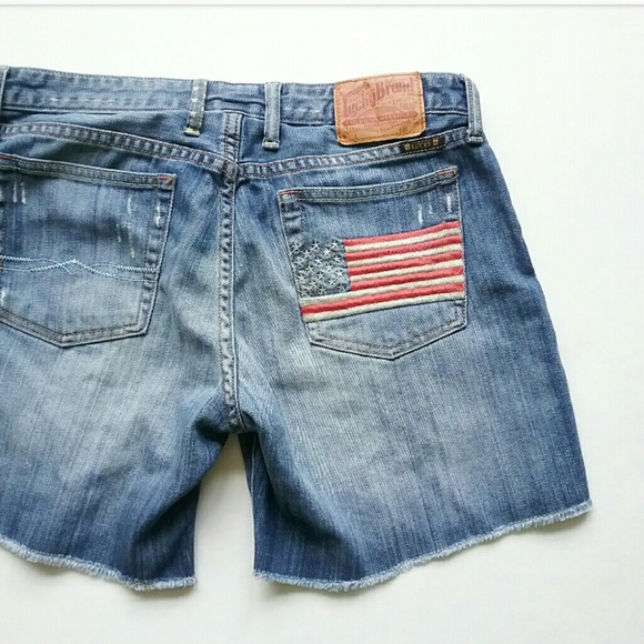Lucky Brand Pants - Lucky Brand USA Flag Cut Off Jean Shorts